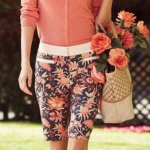 Anthro Leifsdottir Maypop Floral Bermuda Shorts 6